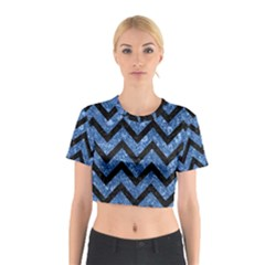 CHV9 BK-BL MARBLE (R) Cotton Crop Top
