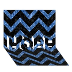 Chevron9 Black Marble & Blue Marble Hope 3d Greeting Card (7x5)