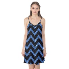 Chevron9 Black Marble & Blue Marble Camis Nightgown