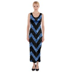 CHV9 BK-BL MARBLE Fitted Maxi Dress