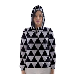 TRI3 BK MARBLE SILVER Hooded Wind Breaker (Women)