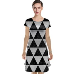 Triangle3 Black Marble & Silver Brushed Metal Cap Sleeve Nightdress