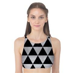 Triangle3 Black Marble & Silver Brushed Metal Tank Bikini Top