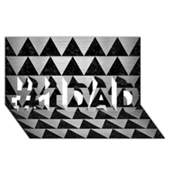Triangle2 Black Marble & Silver Brushed Metal #1 Dad 3d Greeting Card (8x4)