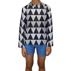 TRI2 BK MARBLE SILVER Kid s Long Sleeve Swimwear