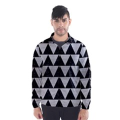 Triangle2 Black Marble & Silver Brushed Metal Wind Breaker (men)