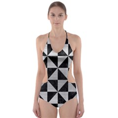 TRI1 BK MARBLE SILVER Cut-Out One Piece Swimsuit