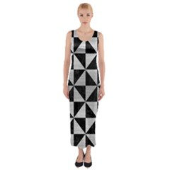 TRI1 BK MARBLE SILVER Fitted Maxi Dress