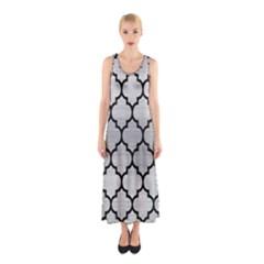 TIL1 BK MARBLE SILVER (R) Full Print Maxi Dress