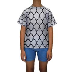 TIL1 BK MARBLE SILVER (R) Kid s Short Sleeve Swimwear