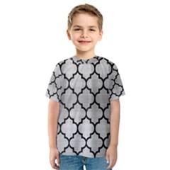 Tile1 Black Marble & Silver Brushed Metal (r) Kids  Sport Mesh Tee