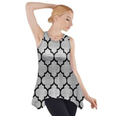TIL1 BK MARBLE SILVER (R) Side Drop Tank Tunic