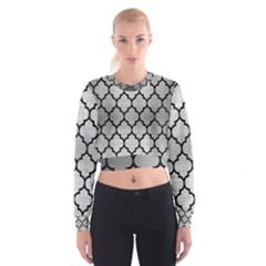 TIL1 BK MARBLE SILVER (R) Women s Cropped Sweatshirt