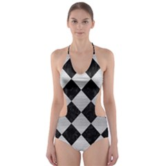 SQR2 BK MARBLE SILVER Cut-Out One Piece Swimsuit