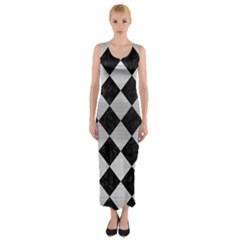 SQR2 BK MARBLE SILVER Fitted Maxi Dress