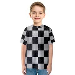 SQR1 BK MARBLE SILVER Kid s Sport Mesh Tee