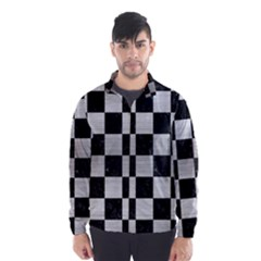 SQR1 BK MARBLE SILVER Wind Breaker (Men)