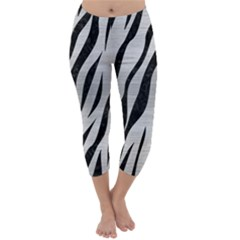 SKN3 BK MARBLE SILVER (R) Capri Winter Leggings