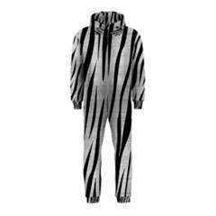 Skin3 Black Marble & Silver Brushed Metal (r) Hooded Jumpsuit (kids)