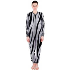 Skin3 Black Marble & Silver Brushed Metal (r) Onepiece Jumpsuit (ladies)