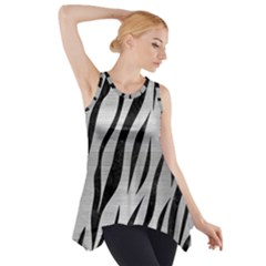 Skin3 Black Marble & Silver Brushed Metal (r) Side Drop Tank Tunic