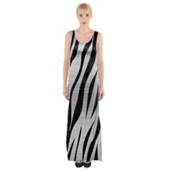 SKN3 BK MARBLE SILVER (R) Maxi Thigh Split Dress