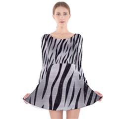 SKN3 BK MARBLE SILVER (R) Long Sleeve Velvet Skater Dress