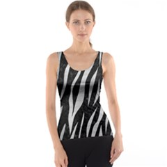 Skin3 Black Marble & Silver Brushed Metal Tank Top