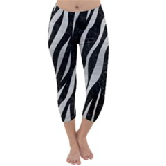 SKN3 BK MARBLE SILVER Capri Winter Leggings
