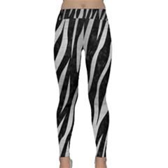 Skin3 Black Marble & Silver Brushed Metal Classic Yoga Leggings