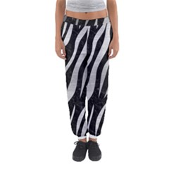 Skin3 Black Marble & Silver Brushed Metal Women s Jogger Sweatpants