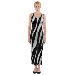 SKN3 BK MARBLE SILVER Fitted Maxi Dress