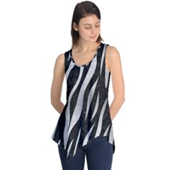 Skin3 Black Marble & Silver Brushed Metal Sleeveless Tunic