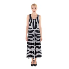 SKN2 BK MARBLE SILVER Full Print Maxi Dress