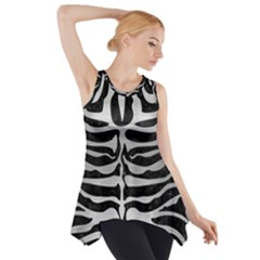 SKN2 BK MARBLE SILVER Side Drop Tank Tunic