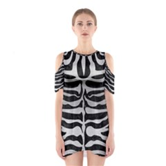 Skin2 Black Marble & Silver Brushed Metal Shoulder Cutout One Piece