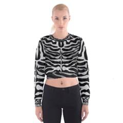SKN2 BK MARBLE SILVER Women s Cropped Sweatshirt