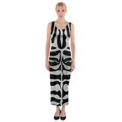 SKN2 BK MARBLE SILVER Fitted Maxi Dress