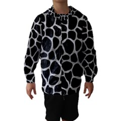SKN1 BK MARBLE SILVER (R) Hooded Wind Breaker (Kids)