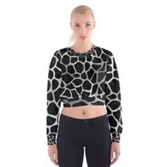 SKN1 BK MARBLE SILVER (R) Women s Cropped Sweatshirt