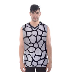 SKN1 BK MARBLE SILVER Men s Basketball Tank Top
