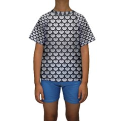 SCA3 BK MARBLE SILVER (R) Kid s Short Sleeve Swimwear