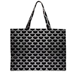 SCA3 BK MARBLE SILVER Large Tote Bag