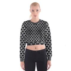 SCA3 BK MARBLE SILVER Women s Cropped Sweatshirt