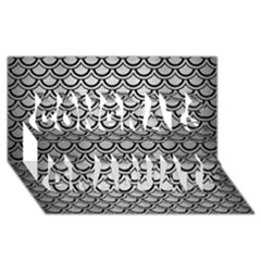 Scales2 Black Marble & Silver Brushed Metal (r) Congrats Graduate 3d Greeting Card (8x4)