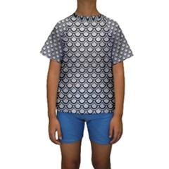 SCA2 BK MARBLE SILVER (R) Kid s Short Sleeve Swimwear
