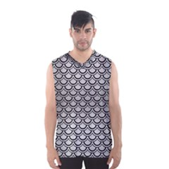 Scales2 Black Marble & Silver Brushed Metal (r) Men s Basketball Tank Top
