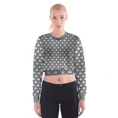 SCA2 BK MARBLE SILVER (R) Women s Cropped Sweatshirt