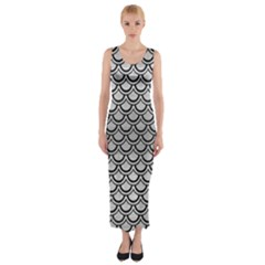 SCA2 BK MARBLE SILVER (R) Fitted Maxi Dress