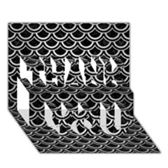 Scales2 Black Marble & Silver Brushed Metal Thank You 3d Greeting Card (7x5)